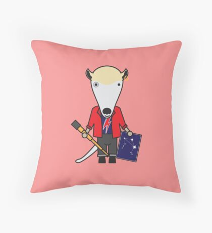 Alan the Astronomer Anteater Throw Pillow