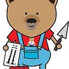 Bobby the Bricklayer Bear by samedog
