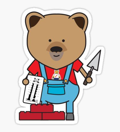 Bobby the Bricklayer Bear Sticker