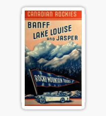 Banff Jasper Lake Louise Vintage Travel Decal Sticker