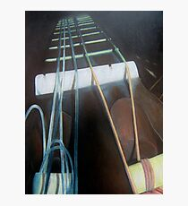 Guitar Neck with Strings Photographic Print