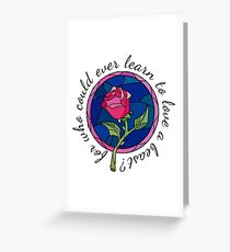 For who could ever learn to love a beast? Greeting Card