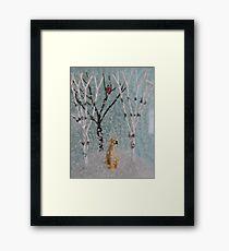 Labrador SnowGlobe Framed Print