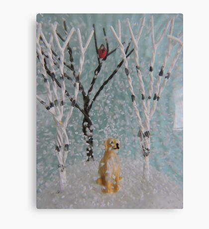 Labrador SnowGlobe Canvas Print