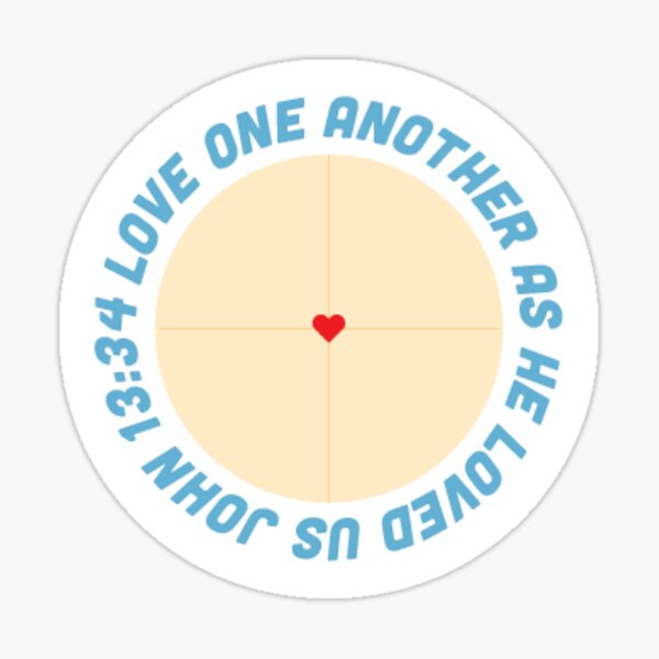 Love one another Sticker