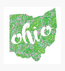 Ohio State Lilly Pattern Photographic Print