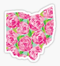 Ohio State Lilly Pattern Sticker