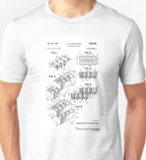 Lego Building Bricks Toy Original Patent Drawing Design T-Shirt