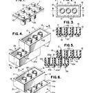 Lego Building Bricks Toy Original Patent Drawing Design by Framerkat