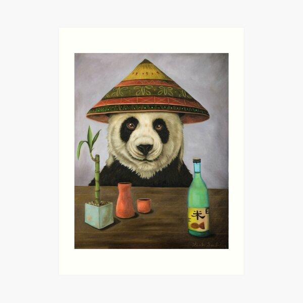 Boozer 4 with Panda Art Print