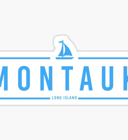 Hipster Montauk with Sailboat  Sticker