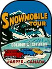 Jasper Snowmobile National Park Vintage Decal by hilda74