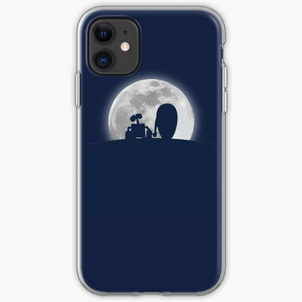 Wall•E and EVE in the Moonlight, Awwwww. iPhone Soft Case