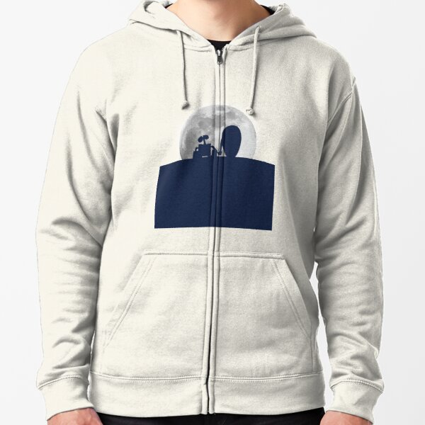 Wall•E and EVE in the Moonlight, Awwwww. Zipped Hoodie