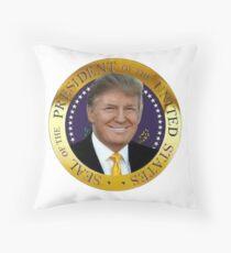 President Donal Trump Seal  Throw Pillow