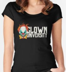 Scary Clown University Halloween  Women's Fitted Scoop T-Shirt