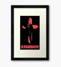 Starboy Cross Framed Print