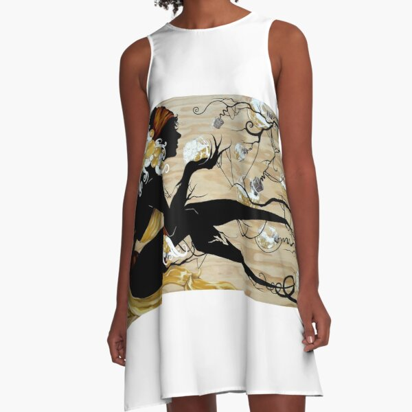 Drawing in the Spirits A-Line Dress