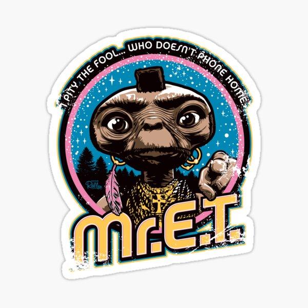 Mr. E.T. - 80s Retro Vintage Mash-Up Sticker