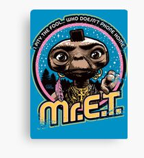 Mr. E.T. - 80s Retro Vintage Mash-Up Canvas Print