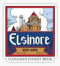 """Elsinore Beer"" - as seen on ""Strange Brew"" Sticker"