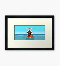 Lil Yachty in ocean Lil Boat Framed Print