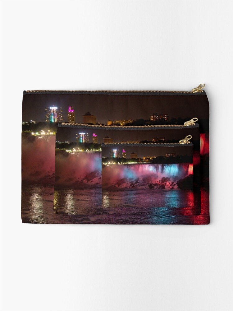 Alternate view of Light of the Falls Zipper Pouch