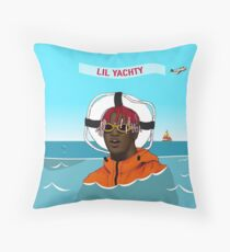 Lil Yachty in ocean Lil Boat Throw Pillow