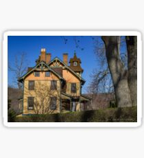 Old House In Main Street Historic District | Cold Spring Harbor, New York Sticker
