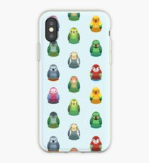 Parrot Nesting Doll Pattern iPhone Case