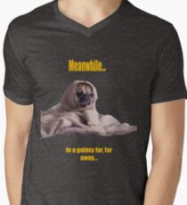 Pug in a Robe yellow captions T-Shirt