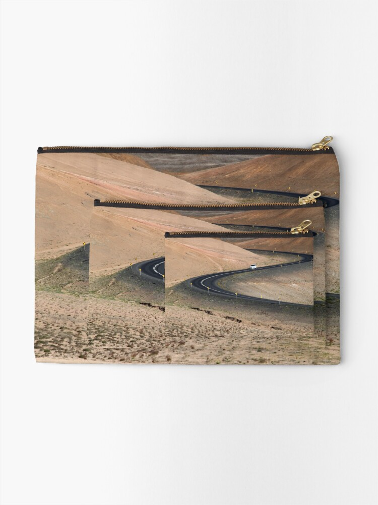 Alternate view of Iceland Zipper Pouch