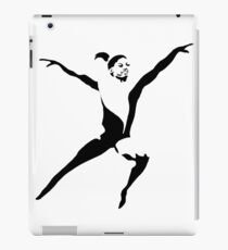 Simone Biles Olympics Leap USA Black and White iPad Case/Skin