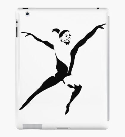Simone Biles Olympics Leap USA Black and White iPad Case/Skin