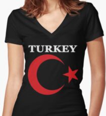 Turkey National Turkish Pride Women's Fitted V-Neck T-Shirt
