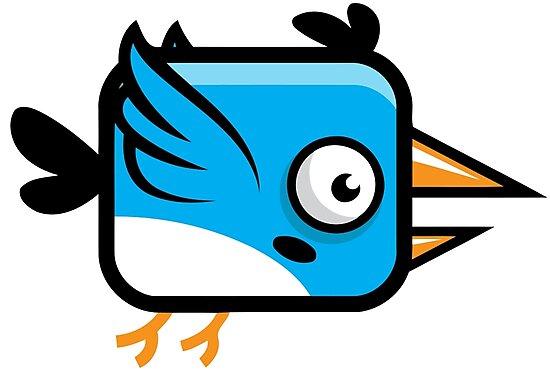 Little Squared Blue Bird by Chocodole
