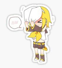 blushing Rin Sticker