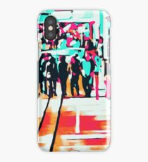 group of people walking with the wooden walkway iPhone Case/Skin