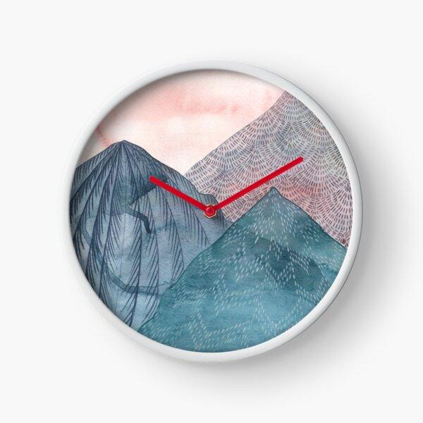 O'er The Wild Mountains - Portrait  Clock
