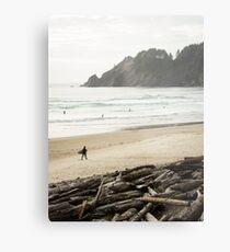 Pacific Northwest Surfer Metal Print