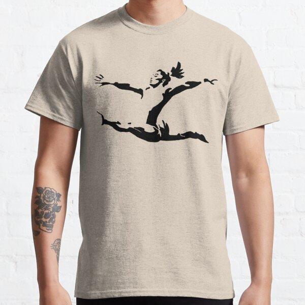 Simone Biles Olympics Soaring USA Black and White Classic T-Shirt