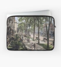 Broadway in Saratoga Springs, New York, ca 1915 (full size) Laptop Sleeve