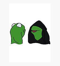 Evil Kermit Photographic Print