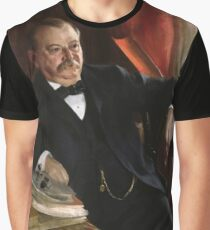 U.S. President Grover Cleveland Portrait Graphic T-Shirt