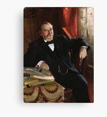 U.S. President Grover Cleveland Portrait Canvas Print