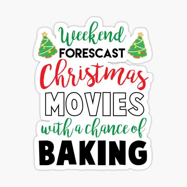 Christmas Movies & Baking Sticker