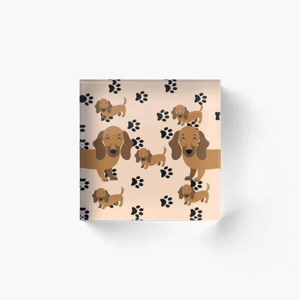 Dachshund dog pattern Acrylic Block