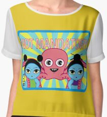 "Fruity Oaty Bar! ""NOT MANDATORY 2"" Shirt (Firefly/Serenity) Chiffon Top"