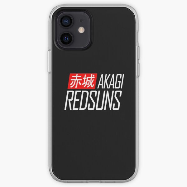 Akagi RedSuns - Initial D (Blanc) Coque souple iPhone