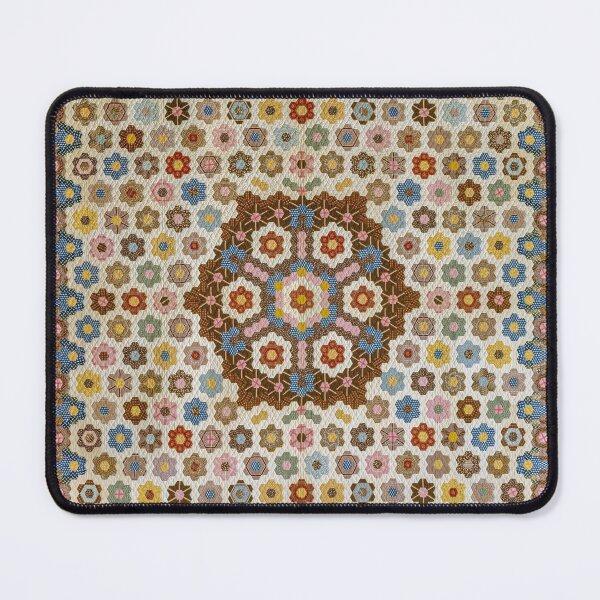 Vivid Colors Honeycomb Patchwork Quilt Pattern Mouse Pad